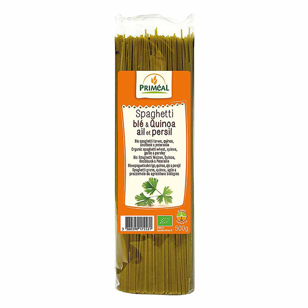 Spaghetti de Trigo, Quinoa, Ajo y Perejil