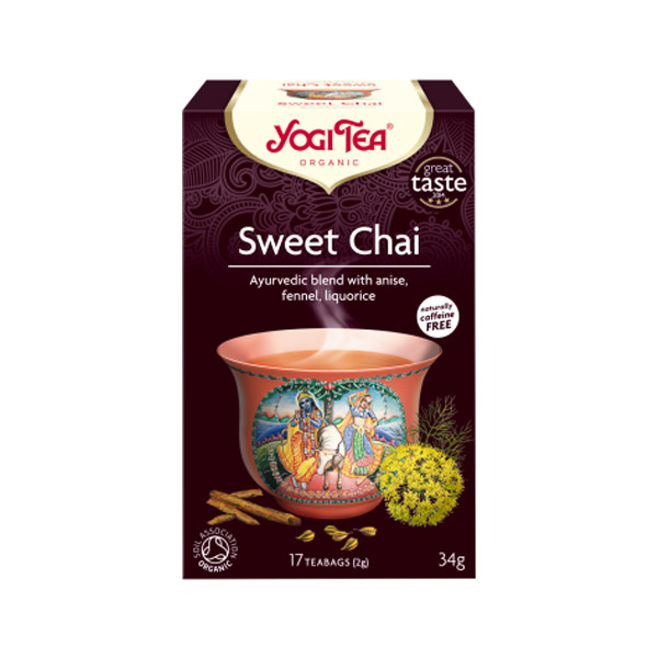 YogiTea Chai Dulce Té Ecológico