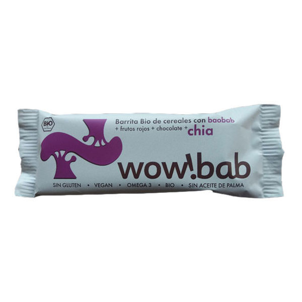 Organic WOWBAB Cereal Baobab and Chia Energy Bar